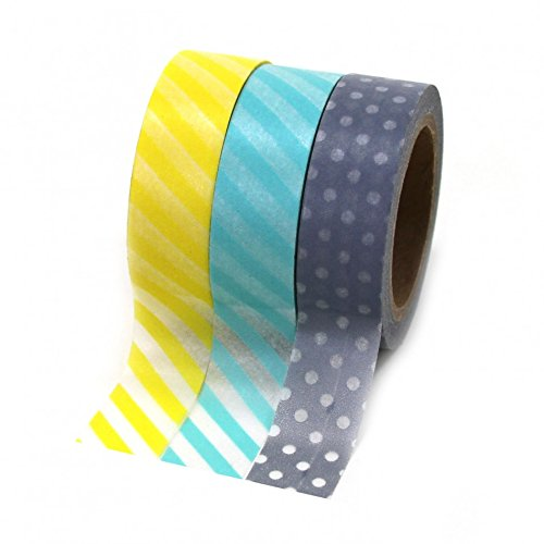 Dress My Cupcake Washi Paper Tape, Modern Collection, Set of 3
