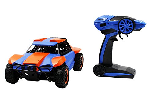 CSFLY Rc Car 2.4GHz 1:18 High Speed Wireless Remote Rontrol Car,Climbing Car Simulation of Electric Racing Truck.-Orange