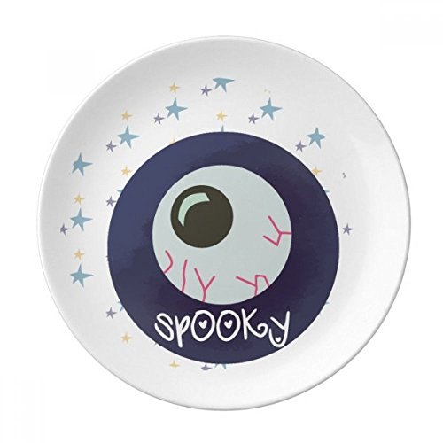 Halloween Round Lifelike Eyeball Dessert Plate Decorative Porcelain 8 inch Dinner Home