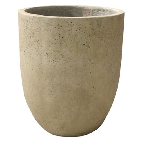 軽量コンクリート製植木鉢 フォリオ アルトエッグ クリーム 43cm B01INCKNZ8  クリーム 43cm