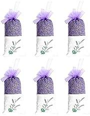 TooGet Lavender Sachets Dried Lavender Flowers Sachets, Lavender Scented Sachet Fresh Dried Lavender Bags - Pack of 6 (A: Pack of 6, A: Pack of 6)