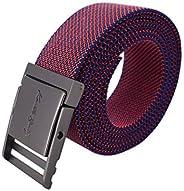 Western Elastic Belt for Women Adjustable Plus Size Stretch Nylon Men Dress Belt
