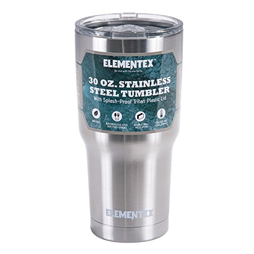 ELEMENTEX 30 oz Travel Cup Insulated Mug with Splash Proof Shatterproof Lid Stainless Steel Double Wall Tumbler