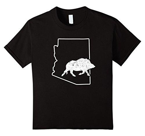 Javelina Target (Kids Javelina Shirt Wild Pig Target Arizona Wild Hog Boar 10 Black)
