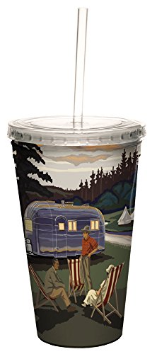Airstream Camping Double-Walled Cold Beverage Cup made our list of camping gifts couples will love and are the best gifts for couples who camp in tents or RVs including awesome gifts for people who love camping with their friends and families!