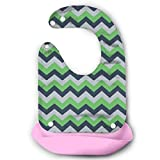 Seattle Seahawks Chevron Baby Bibs Waterproof For Babies And Toddlers Easily Wipes Clean Comfortable Soft