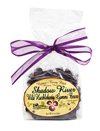 Shadow River Gourmet Wild Huckleberry Gummy Bears Purple Candy – 8 oz