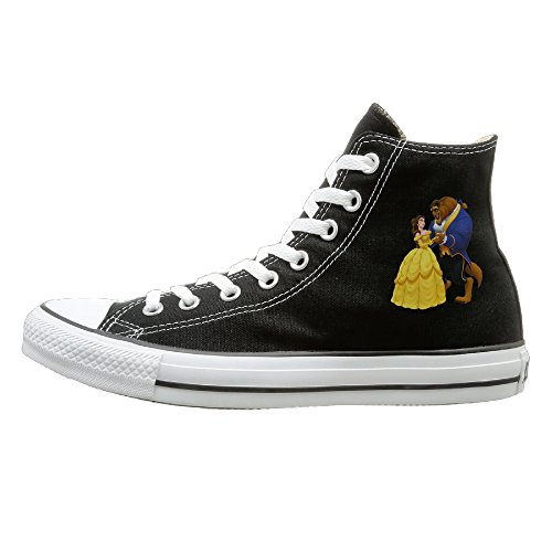WS Unisex Classic Beauty And The Beast Slip-On Shoes Black (The Beast X Men Costume)