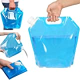 5gl bucket with lid - Travel Supplies - 10l Portable Folding Water Bag Car Travel Drinking Container Carrier Storage Pack - Collapsible Irrigate Suitcase Collapsable Urine Purse Pee Bagful Perspiration Pocket - 1PCs