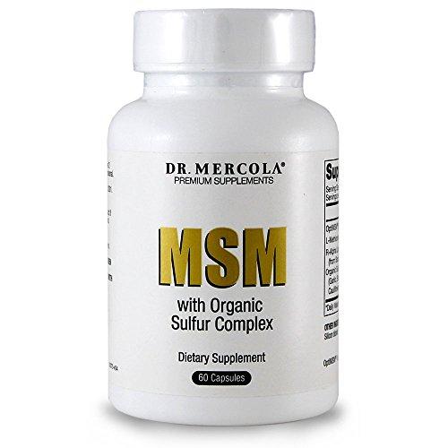 Dr. Mercola MSM soufre organique complexe - 60 Capsules - contient des OptiMSM, L-méthionine, R-acide Alpha lipoïque et soufre organique végétal mélange