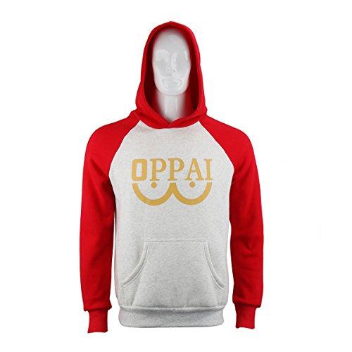NielijuanST Cotton Punch Man Hoodie One Saitama Oppai Sweatshirt Costume Hooded Cosplay Jacket Outfit (1 Adult Hooded Sweatshirt)
