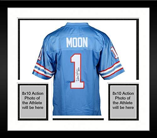 Framed Warren Moon Houston Oilers Autographed Proline Jersey with HOF 06 Inscription - Fanatics Authentic Certified
