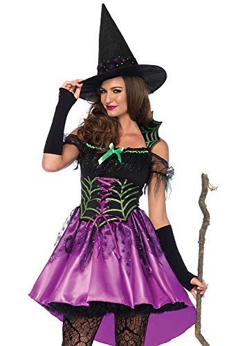 Leg Avenue Women's Spiderweb Witch Costume, Multi, Large]()