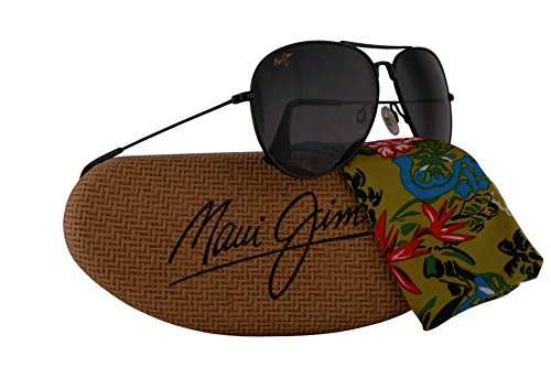 Maui Jim Mavericks Sunglasses Gloss Black w/Polarized Grey Lens MJ264-02