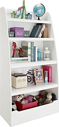 Ameriwood Home Hazel Kids' 4 Shelf Bookcase, White by Ameriwood Home (Image #1)