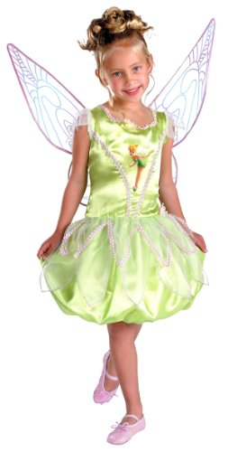 Disney Tinker Bell Deluxe Costumes For Babies (Girls Deluxe Disney Tinker Bell Costume - Child Medium)