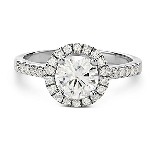 Forever Brilliant 6.5mm Moissanite Engagement Ring Size 5, 1.30cttw DEW By Charles & Colvard by Charles & Colvard (Image #2)