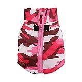 DroolingDog Dog Camo Jacket Soft Padded Vest Harness Camouflage Coat for Small Dogs, Medium, Pink