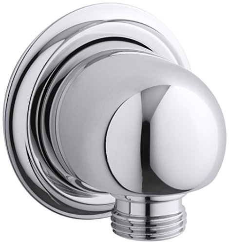 KOHLER K-355-CP Forté Supply elbow, Polished Chrome