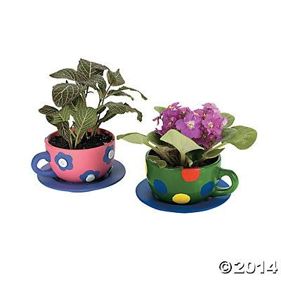 Design Your Own Tea Cup Planters, pack of 6 (Plain Child Cup)