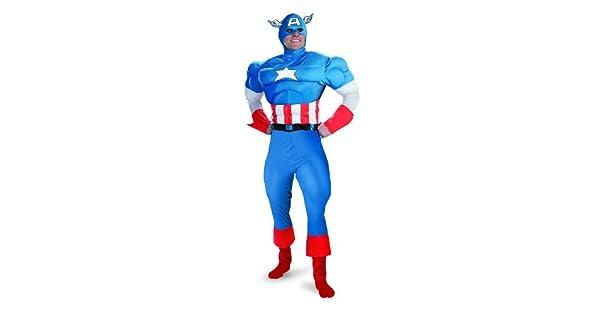 Amazon.com: Disfraz de capitán américa (Tamaño: X-Large 42 ...