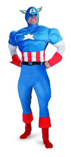 Captain America Classic Muscle Adult Costume - (Classic Captain America Costumes)