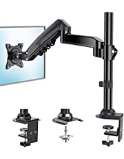 $27 » ErGear Single Monitor Mount Arm, Adjustable Gas Spring Monitor Desk Mount Stand, VESA Mount 75/100mm with C Clamp, Grommet Mounting for Most 17-34 Inch Flat Curved Monitors, Hold up to 19.8lbs