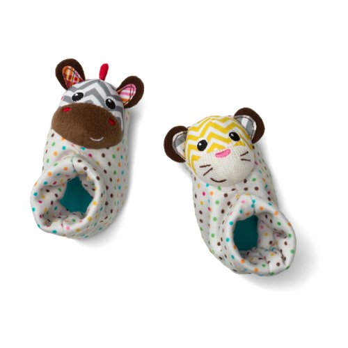 Infantino Plush (Infantino Foot Rattles, Zebra and Tiger)
