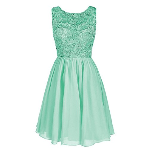 Verde Mujer Para Claro Vestido Drasawee Trapecio YHqwgP