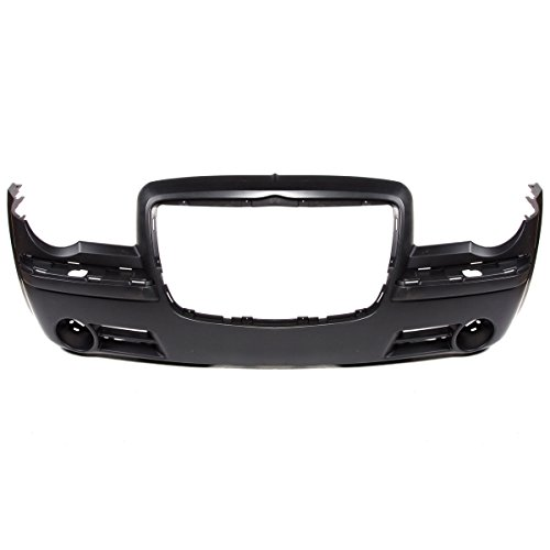 CarPartsDepot, Front Bumper Cover Without Headlamp Washer Primered Black Plastic, 352-161406-10-PM CH1000441 4805774AC (Washer Cover Headlamp)