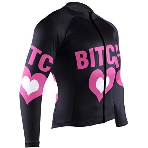 Mens Cycling Jersey Bitch Heart Biking Bicycle Jersey Shirt