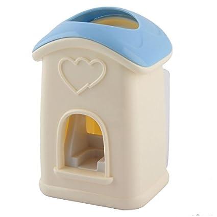 eDealMax Casa Linda Forma de Manos libres Para el hogar Pasta de dientes automático dispensador del