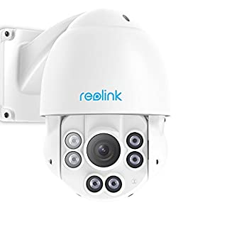 Reolink PTZ Camera Outdoor 5MP Super HD Work with Google Assistant, PoE IP Security Monitor IR Night Vision Pan Tilt 4X Optical Zoom Motion Detection Video Surveillance Dome RLC-423