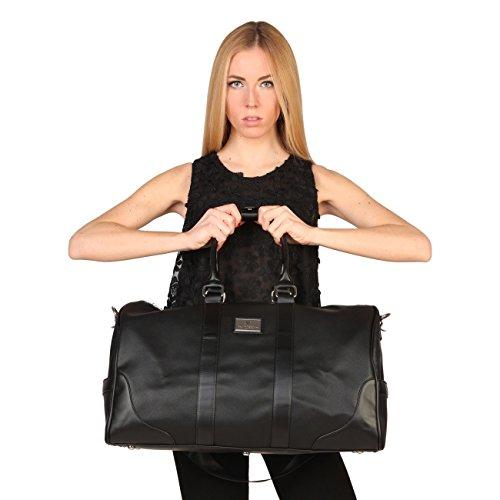 V&A Enterprises, Borsa tote donna nero Black