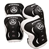 Strider Knee and Elbow Pad Set for Safe Riding, Black