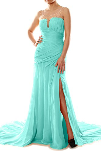 MACloth Women Mermaid Chiffon Long Prom Dress Formal Evening Party ...