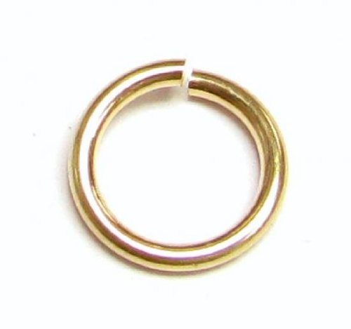 - 10 pcs 14k Gold Filled Round Open Jump Rings 8mm 18 Gauge 18ga Wire/Findings/Yellow Gold