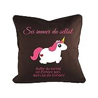 Klebefieber Dekokissen Einhorn B x H: 40cm x 40cm Farbe: pink