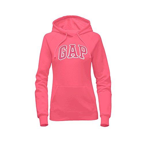 (GAP Women's Pullover Fleece Logo Hoodie (XX-Large, Coral))