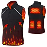 Vinmori 2018 Electric Heated Vest Size Adjustable (Battery Not Included)