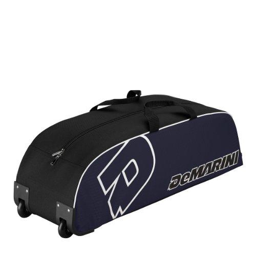 DeMarini Youth Wheeled Bag, Black/Navy