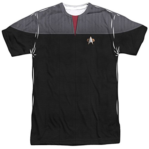 Star Trek The Next Generation TNG Movie Command Uniform Mens Shirt LG ()
