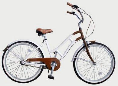 extra(エクストラ) 自転車 ビーチクルーザー 女性用 BRNWHT B00S5X0NF6