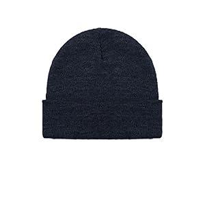 Navy Merino Wool Beanie Hat -Soft Winter and Activewear Watch Cap