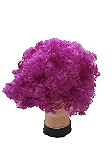 Dazzle colour afro wig children adult antics tire ancient wedding party funny fans wig-purple pink
