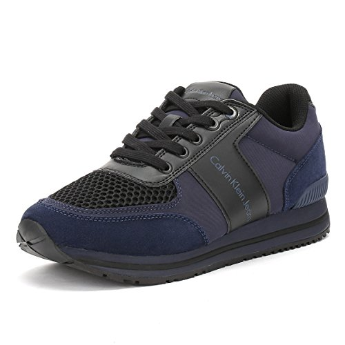Calvin Klein Estez Suede/Nylon/Smooth, Sneaker Uomo Blu