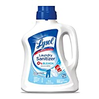 Lysol Laundry Sanitizer Additive, Crisp Linen, 90oz, Bacteria-Causing Laundry Odor...