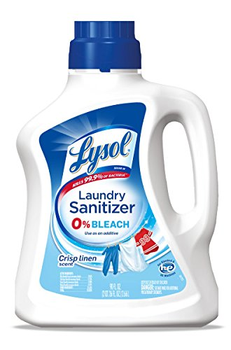 Lysol Laundry Sanitizer Additive, Crisp Linen, 90oz (Fake Grass Blanket)