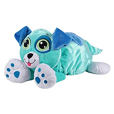 Rainbow Fluffies Blue Puppy Colorful Plush - 2 in 1 Stuffed Animal: Pet Supplies