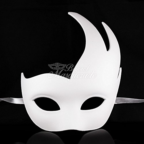 White Swan Costume Diy (Unpainted Blank Mask, Swan Mask, Womens Masquerade Mask for Costume Party DIY Mask)